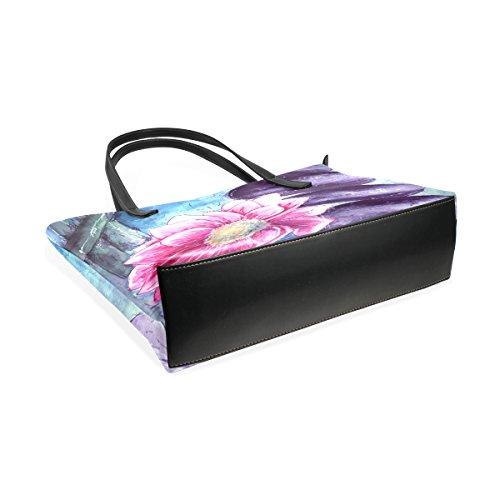 b34c1d9edc14 Per Borsa Bag Acqua Shoulder Multicolore Coosun Borse E Medio Pu Donne Tote  Pietre Leather Lotus ...