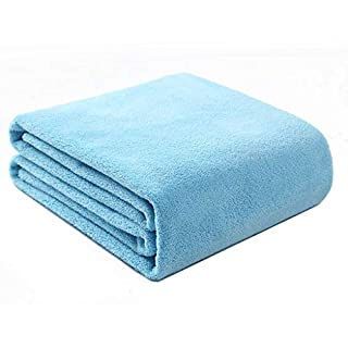 Maoji Baby Bath Towel Big Towel Baby Bathing Cotton Gauze Water Absorption Quick Drying Super Soft (Color : Blue)