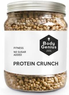 BODY GENIUS Protein Crunch (Galleta). 500g. Cereales Proteicos. Bolitas de Proteína Recubiertas de Chocolate Sin Azúcar. Bajo en Hidratos. Snack ...