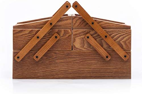 Joyería de Madera Caja de Maquillaje Caja China Antigua del Portable de la joyería del Collar de la Mano Caja de Almacenamiento: Amazon.es: Hogar