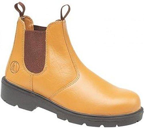 Amblers Steel Slip-On Lined Safety Footwear - Tan - Size 13