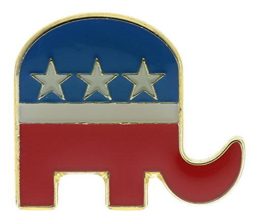Sujak Military Items Republican Party GOP Political Elephant 1 inch Hat or Lapel Pin AK498]()