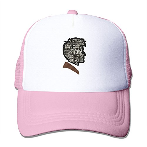 M07H Custom Unisex-Adult Personalized Doctor TV Series Who Season 10 Mesh Baseball Cap Hat Pink