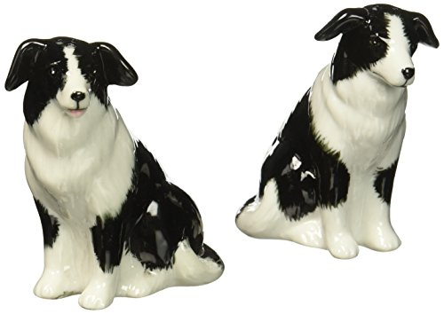 Cosmos 20870 Gifts Ceramic Border Collie Salt and Pepper Set, 2-1/2-Inch