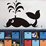 lovely nba wall decals HSQMM Ocean Theme Large Whale Wall Stickers Lovely Animal Wall Decal for Kids Room Waterproof Adhesive Wallpaper Nursery Baby Decals79X58Cm
