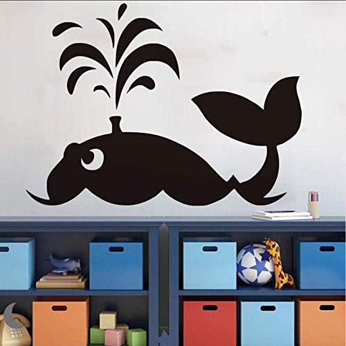 HSQMM Ocean Theme Large Whale Wall Stickers Lovely Animal Wall Decal for Kids Room Waterproof Adhesive Wallpaper Nursery Baby Decals79X58Cm