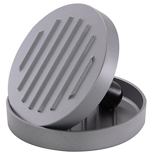 OVOS Aluminum Non-Stick Hamburger Press 50 Free Patty Papers Wood Handle by OVOS (Image #2)'