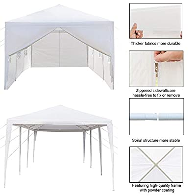 nobrand 3 x 9m Waterproof Tent with Spiral Tubes Five Sides Seven Sides Eight Sides (8 Sides) : Garden & Outdoor