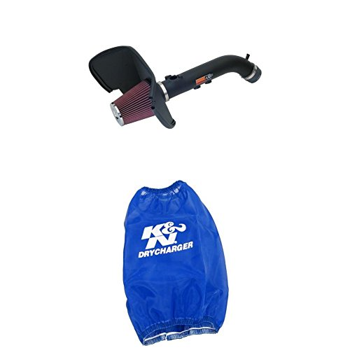 (K&N 57-9015-1 Performance Air Intake System with Blue Air Filter Wrap)