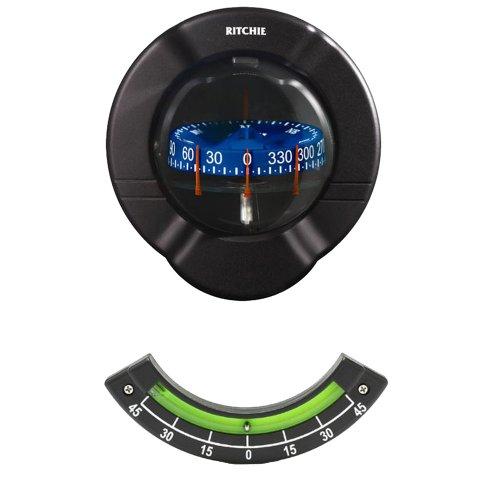 Bulkhead Mount Compass (E.S. Ritchie Sr-2 Venture Bulkhead Mount Sail Boat Compass W/ Clinometer)