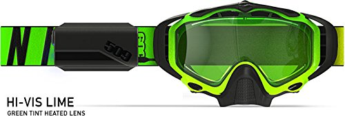 509 Sinister X5 Ignite Heated Goggle - Hi-Vis Lime by 509