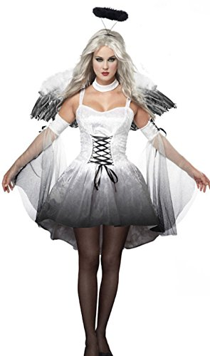 [Cohaco Women's Angel Dark Angel Devil Costume Dress (Angel)] (Dark Angel Costumes Women)