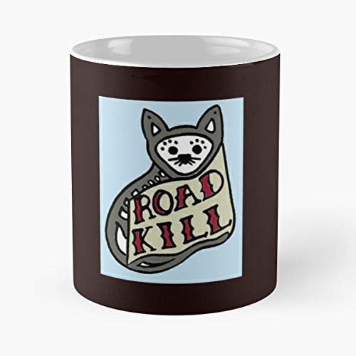 Road Kill Classic Mug Coffee Tea - Mug, Funny 11 Oz Gift Idea For Coworkers, Friends