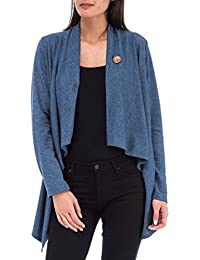 Women's One Button Wrap Cardigan Comfy, Cute & Stretchable Sweater