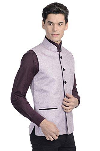 En quinze Violet Festif Bandhgala Couleurs Homme Pour De Gilet Clair Costume Wintage Rayon Nehru vqxw07BRT