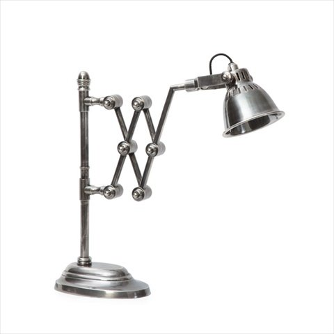 GO Home Ltd. 15662 Library Extender 1-Light Desk Lamp, Vintage Steel Finish