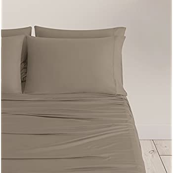 SHEEX Breezy Cooling Sheet Set with 2 Pillowcases, Breathable, Silky-Soft Fabric, Taupe, Full