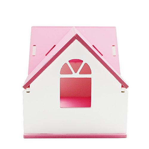 OMEM Hamster House Small Animal Hideout, Pet Mini Hut,Hamster Cabin,Hamster Cages,Portable Hamster Room, Pet Wooden Toys,Pet Hamster Toys by OMEM (Image #3)
