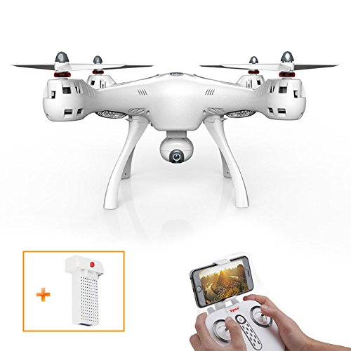 FLYPRO SYMA X8PRO GPS WIFI FPV RC Quadcopter with HD 720P Camera Hover Function Headless Mode RTF 2.4GHz & 7.4V 2000MAH 25C Battery by FLYPRO