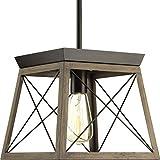 Briarwood Collection Rich Oak One-Light Farmhouse