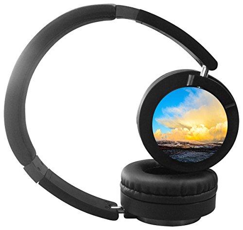 Stereo Bass Over-the-Ear Headphones Headset (Sky Blue) - 8