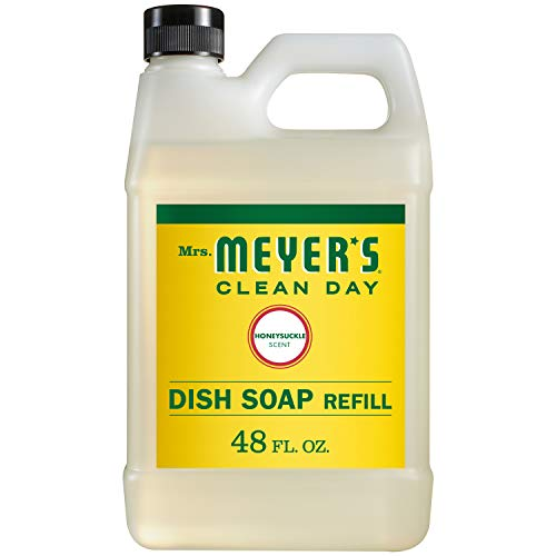 Meyer Soap Dish - Mrs. Meyer's Liquid Dish Soap Refill, Honeysuckle , 48 OZ