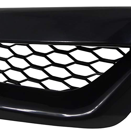 Spec-D Tuning HG-CV062TR Honda Civic 2Dr Coupe Black Honeycomb Type Grill Hood Grille R