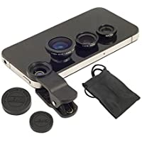 Captcha® Oppo F1 Plus Compatible Ceritfied Professional Universal 3 in 1 Cell Phone Camera Lens Kit (Assorted Colour)
