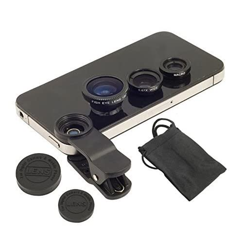 Captcha Universal 3 In 1 Cell Phone Camera Lens Kit With Fish Eye Lens For All Smartphones