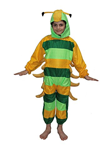 Caterpillar fancy dress for kids,Insect costume for School Annual function]()