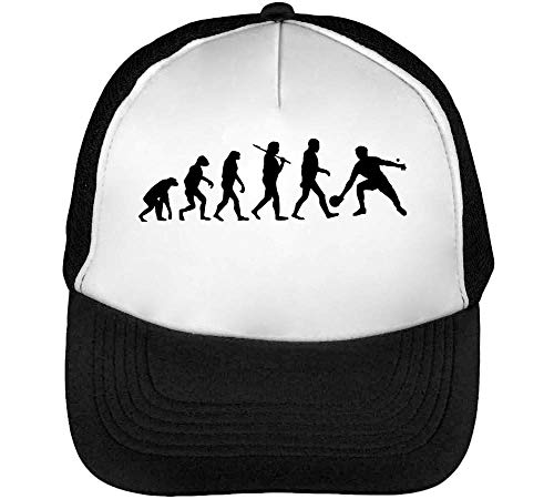 Evolution Table Tennis Gorras Hombre Snapback Beisbol Negro Blanco