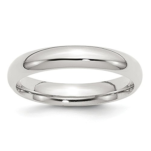 (JewelrySuperMart Collection Sterling Silver 4mm Plain Classic Comfort-fit Wedding Band - Size 11)