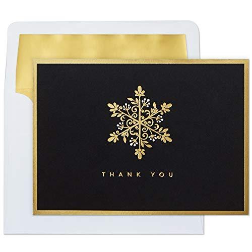 Hallmark Thank You Cards, Gold Snowflake (10 Cards with Envelopes) (Thank You Card Snowflake)