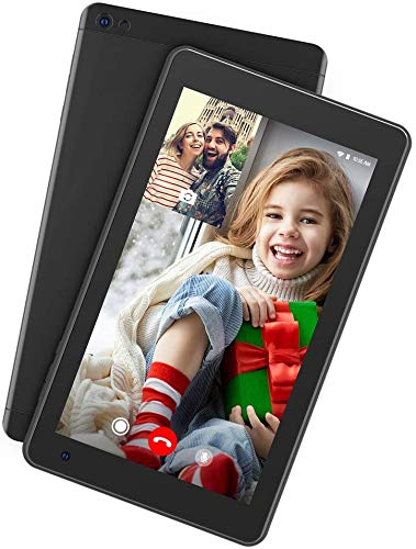 Dragon Touch Tablet Android 9.0 Tablet 7 Pulgadas 1024x600 HD IPS 2GB RAM 16GB ROM Procesador Quad Core Doble Cámara WiFi Bluetooth Negro