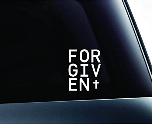 Forgiven Cross Symbol Computer Laptop Symbol Decal Family Love Car Truck Sticker Window - Laptop Verse Bible Decals