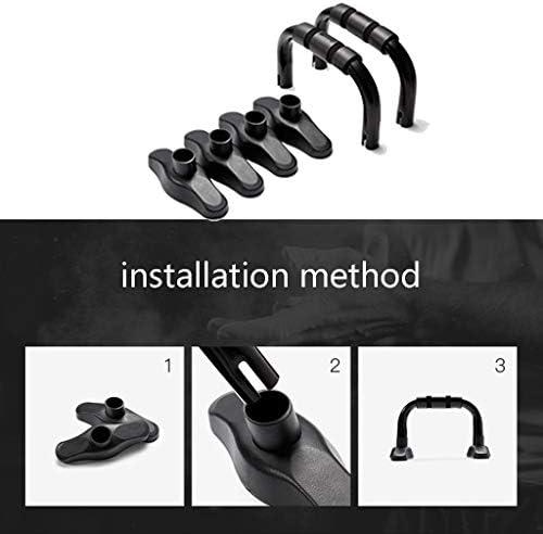 プッシュアップバー フロアプッシュアップ押し上げバー押し上げハンドルフィットネス機器トレーニング機器のメンズワークアウトのギアのために男性のためのハンドルを押し上げ (Color : Black, Size : 25.5*16*15cm)