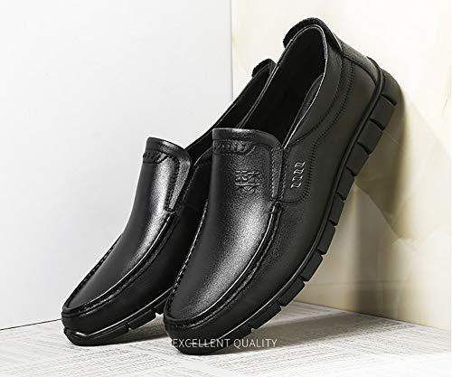 Mens Dress Nero dimensioni LXLA Gli Colore Slip Business Formale Shoes 8 9 on UK Mocassini Business US Brown Casual Uomini Per Leather B1WqxdwfW