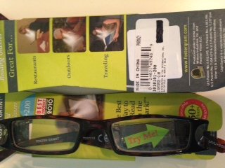 (Light Specs By Foster Grant 2.00 Tortoise Lighted Reading Glasses)