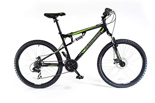 Muddyfox Unisex Adult Livewire Dual Suspension 21 Speed Mountain Bike, 26 Inch