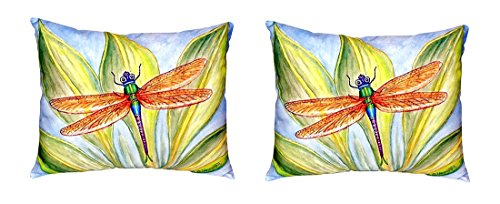 Pair of Betsy Drake Dick's Dragonfly No Cord Pillows 16 Inch X 20 Inch price