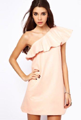 Purpura Erizo Robe Pink Frill Pour Femmes