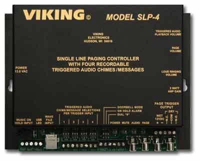 Viking Electronics SLP-4 Single Line Paging (Single Line Paging Controller)