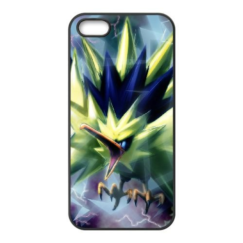 Zapdos Pokemon AD85MB3 coque iPhone 5 5s cellulaire cas de téléphone coque C4SH8H9XO
