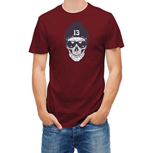 Tshirt street style skull with sunglasses and bean Chili Red - Sunglasses Chili Bean