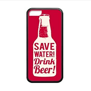 MMZ DIY PHONE CASEsave water !drink beer!funny beer image,interesting beer quotes Plastic and TPU (Laser Technology) Case Cover for Apple ipod touch 5