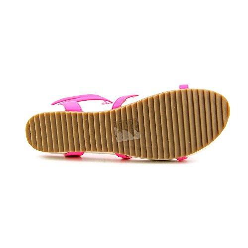 Dv Door Dolce Vita Dames Bengie Gladiator Sandaal Neon Roze Leer