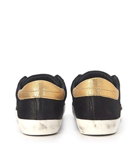 Sneakers Philippe Model Paris in pelle nera e oro Negro