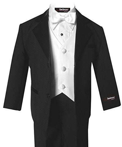 Gino Giovanni Usher Tuxedo Boy Black and White From Baby to Teen