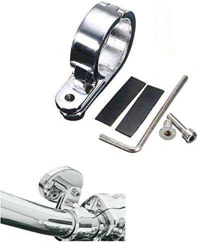 YONGYAO 32Mm//1.25Inches Motorcycle Handlebar Mounts Clamp Clock Universal Silver