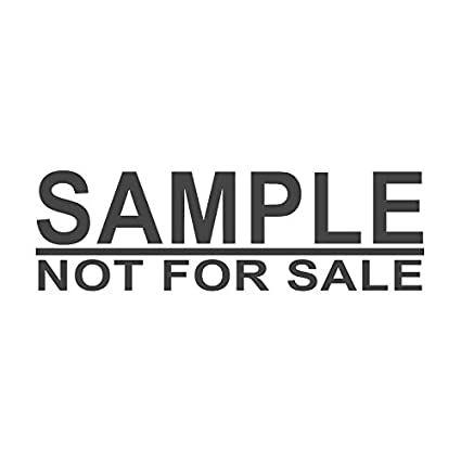 Amazon SAMPLE NOT FOR SALE Pre Inked Office Rubber Stamp